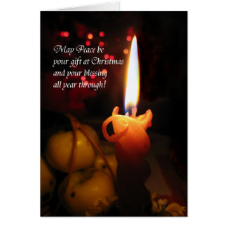 May Peace be your gift at Christmas Greeting Card