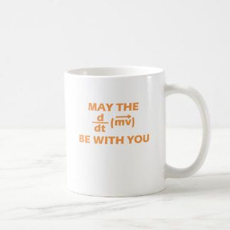 May The Force Be With You Basic White Mug