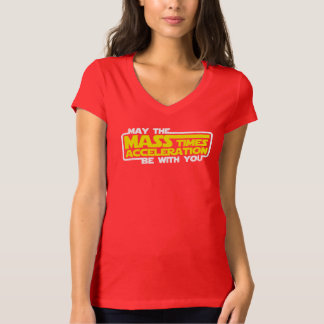 May the Force (Mass x Acceleration) Be With You Shirts