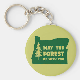 May the Forest Be With You Oregon Basic Round Button Key Ring