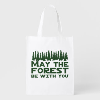 May the Forest Be With You Reusable Grocery Bag