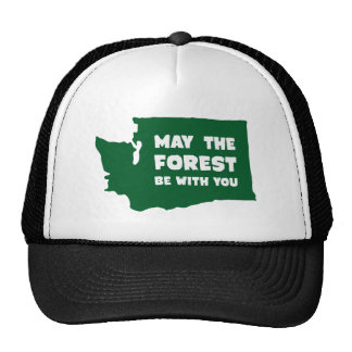 May the Forest Be With You Washington Cap