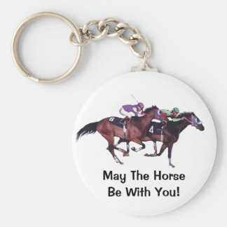 May The Horse Be With You! Basic Round Button Key Ring