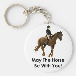 May the horse be with you keyring basic round button key ring