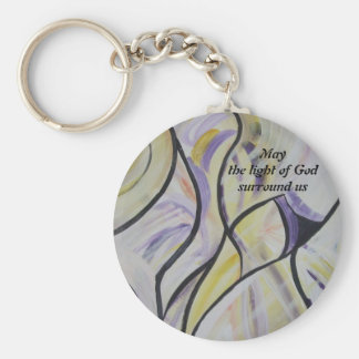 May the light...Keychain Basic Round Button Key Ring