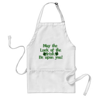 May the Luck of The Irish...Text Image Standard Apron
