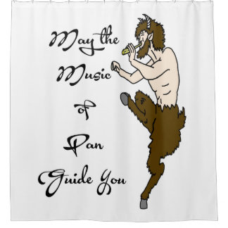 May the Music of Pan Guide You Shower Curtain