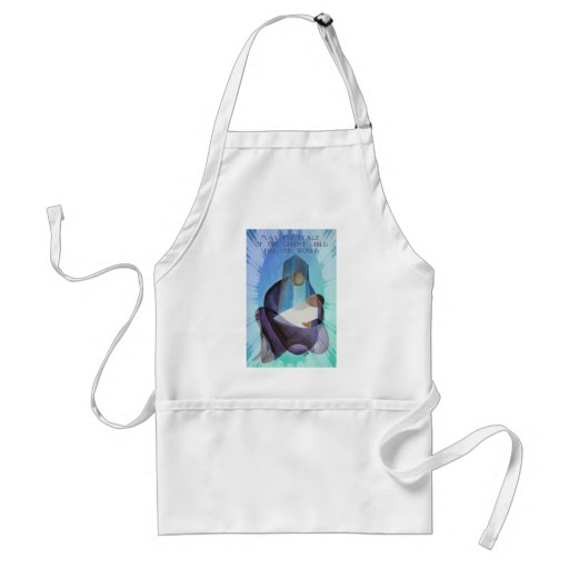 May The Peace Of The Christ Child Fill Our World Apron
