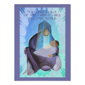 May The Peace Of The Christ Child Fill Our World Custom Invitation