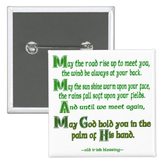 May the Road Rise To Meet You 15 Cm Square Badge
