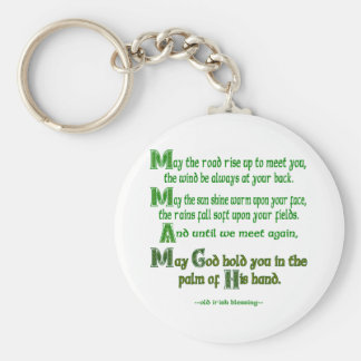 May the Road Rise To Meet You Basic Round Button Key Ring