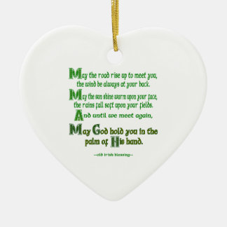 May the Road Rise To Meet You Ceramic Heart Decoration