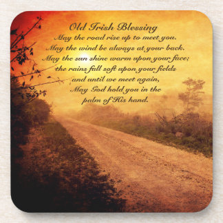 May the Road Rise up to Meet You, Irish Blessing Beverage Coasters