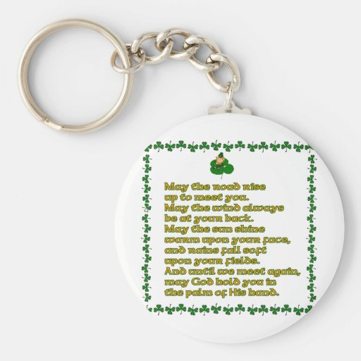 May the road rise up to meet you. keychain