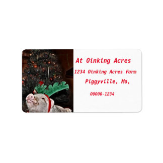 May the spirit of Christmas,Pig Address Labels