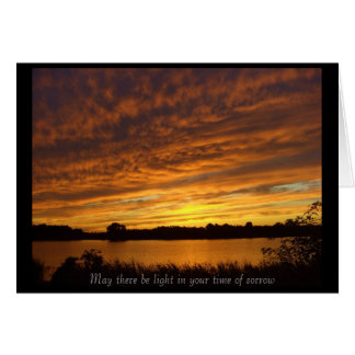 May there be light - condolences greeting card