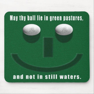 may thy ball lie in green pastures mouse mat/pad mouse mat