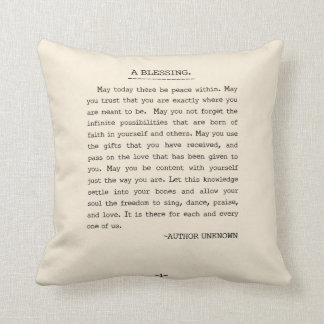 May today there be peace within cushion