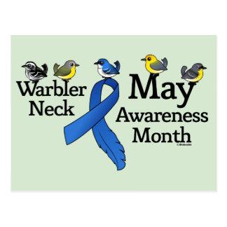 May Warbler Neck Awareness Month Postcard