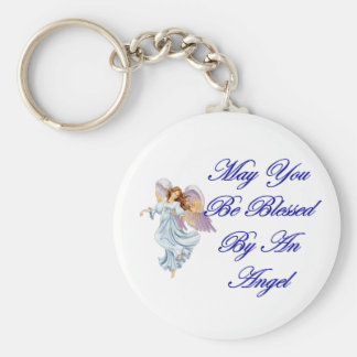 May You Be Blessed By An Angel Key Ring