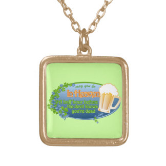 May You Be In Heaven Gold Plated Necklace