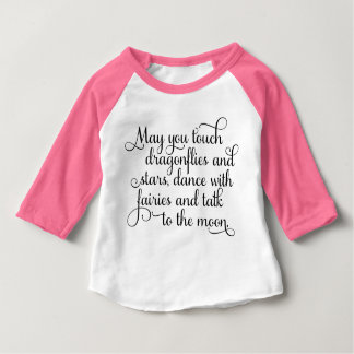May you dance with fairies Irish Blessing Baby T-Shirt