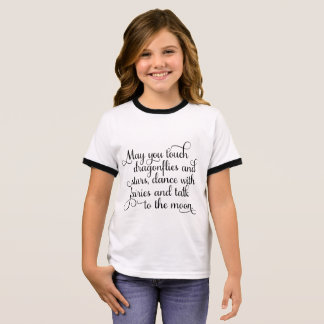 May you dance with fairies, Irish Blessing Ringer T-Shirt