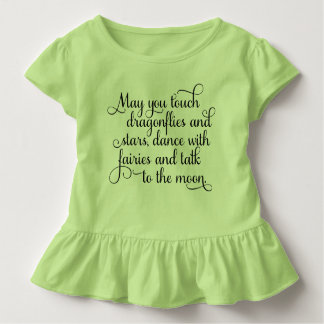 May you dance with fairies Irish Blessing Toddler T-Shirt