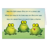 May You Never Find Frogs In Your Underpants Greeting Card