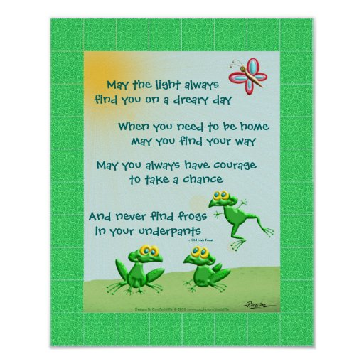 May You Never Find Frogs In Your Underpants Poster