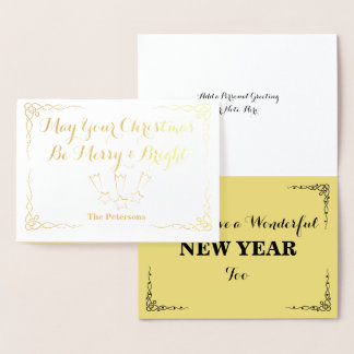 May Your Christmas Be Merry & Bright - Foil Card