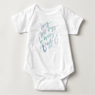 MAY YOUR DAYS BE MERRY AND BRIGHT BABY BODYSUIT