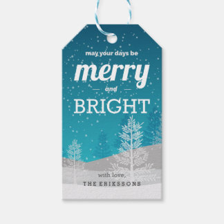 May Your Days Be Merry and Bright Personalized Gift Tags