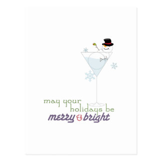 May Your Holidays Be Merry&Bright Merry And Bright Postcard