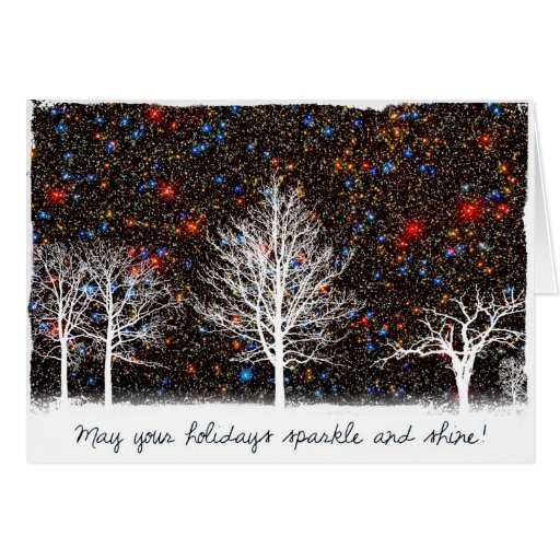 May Your Holidays Sparkle and Shine - Hubble Card