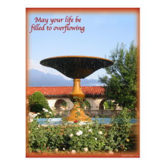 May your life be filled to overflowing postcard