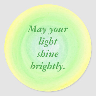 May your light shine brightly affirmation stickers