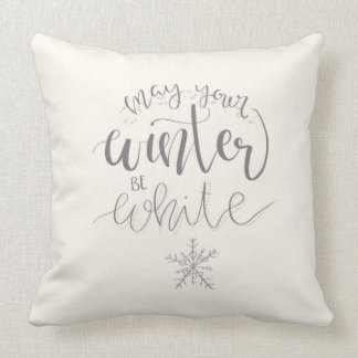 May Your Winter be White Pillow. Cushion