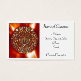 maya aztec calendar personal business card