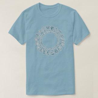 Maya Calendar Blue T-Shirt