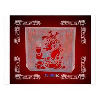 MAYA CHAMAN RED CUSTOMIZABLE PRODUCTS POSTCARD