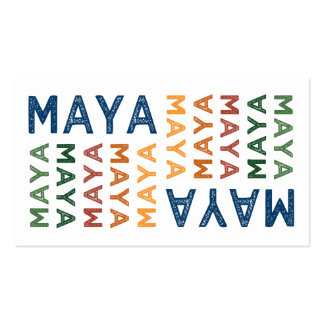 Maya Cute Colorful Pack Of Standard Business Cards