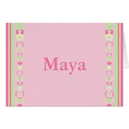 Maya Modern Circles Custom Name Card