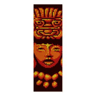 Maya Woman Tribal Headdress Pixel Bookmark Pack Of Skinny Business Cards
