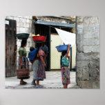 Maya women, Antigua, Guatemala Poster