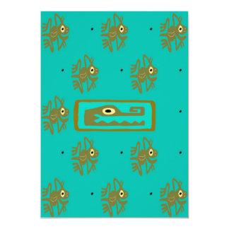 Mayan Alligator Frog Cover 2 13 Cm X 18 Cm Invitation Card