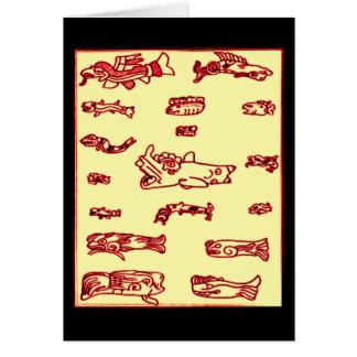 Mayan Animal Design Card