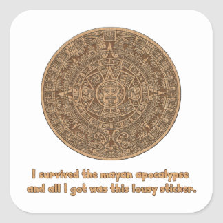 Mayan Apocalypse Square Sticker