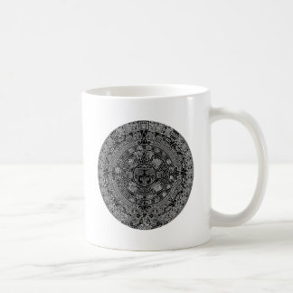 Mayan Aztec Calendar (black) 12.21.2012 Basic White Mug