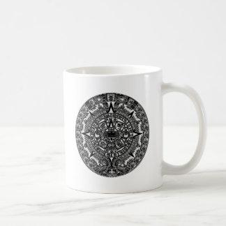 Mayan Aztec Calendar (black) Dec.21, 2012 Basic White Mug